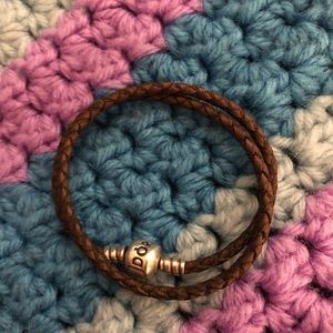 Authentic Pandora leather double Brown